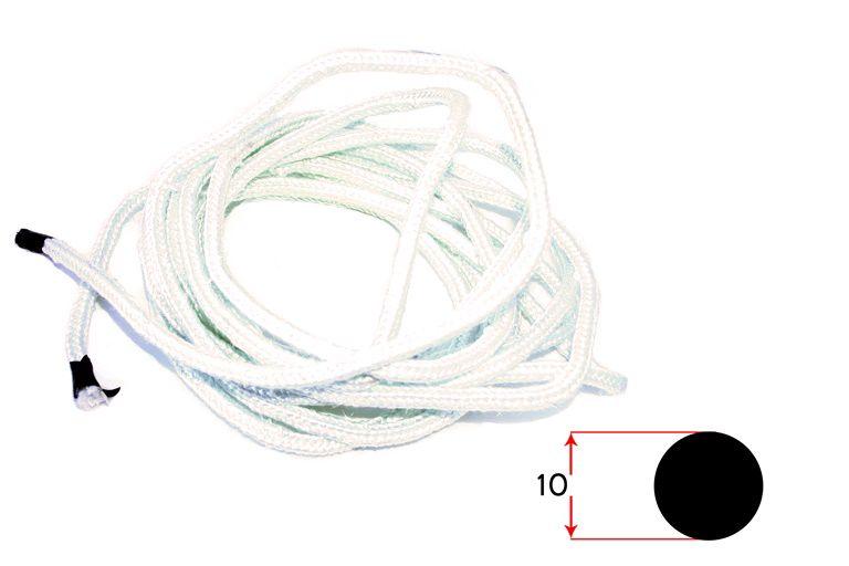 Karstumizturīga stiklšķiedras izolācijas caurule ø 10 mm līdz 600°. Balta