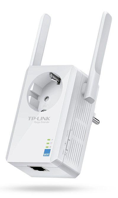 Wi-Fi atkārtotājs ar iebūvētu strāvas kontaktligzdu, b / g / n 300 Mbit / s 1xRJ45, TP-LINK