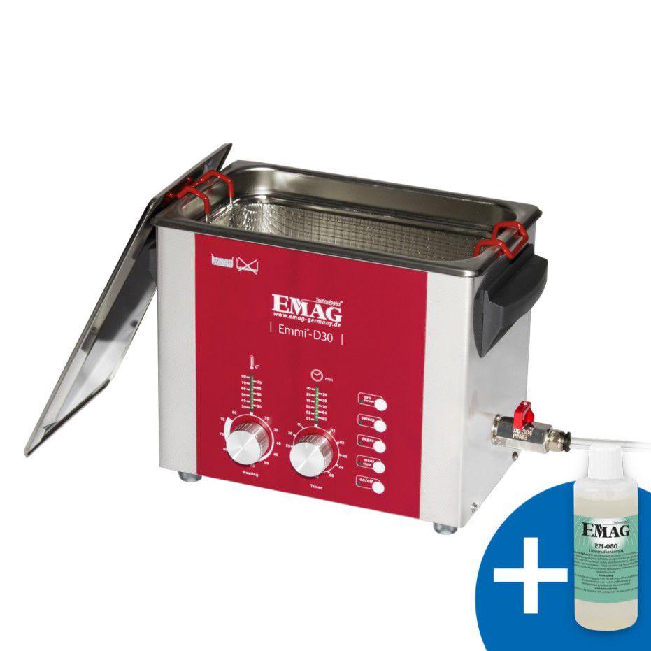 Ultraskaņas vanna 3l 160W  komplektā tīrīšanas šķīdums 500 ml EMAG-Germany
